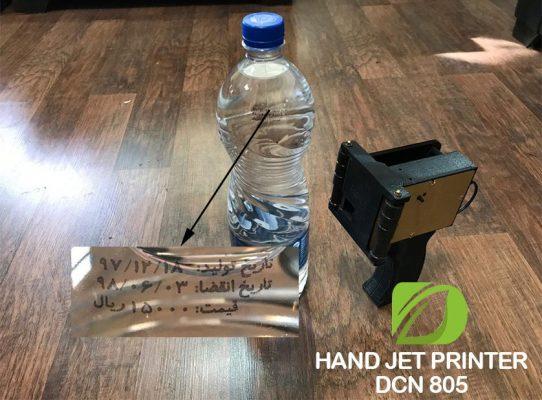 جت پرینتر دستی پرتابل جهت چاپ بر روی بطری آب معدنی